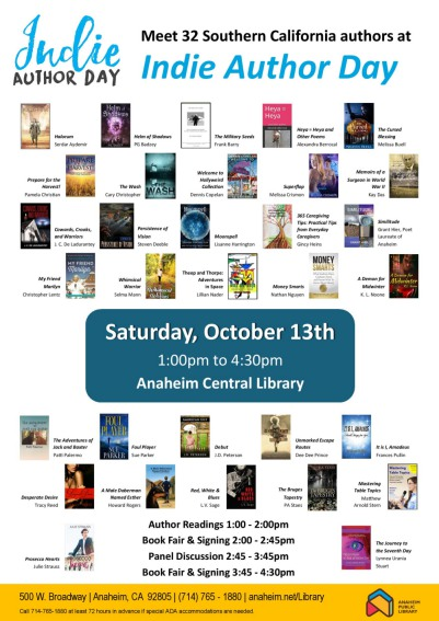 ANAHEIM CENTRAL LIBRARY CELEBRATES THE INDIE AUTHOR DAY