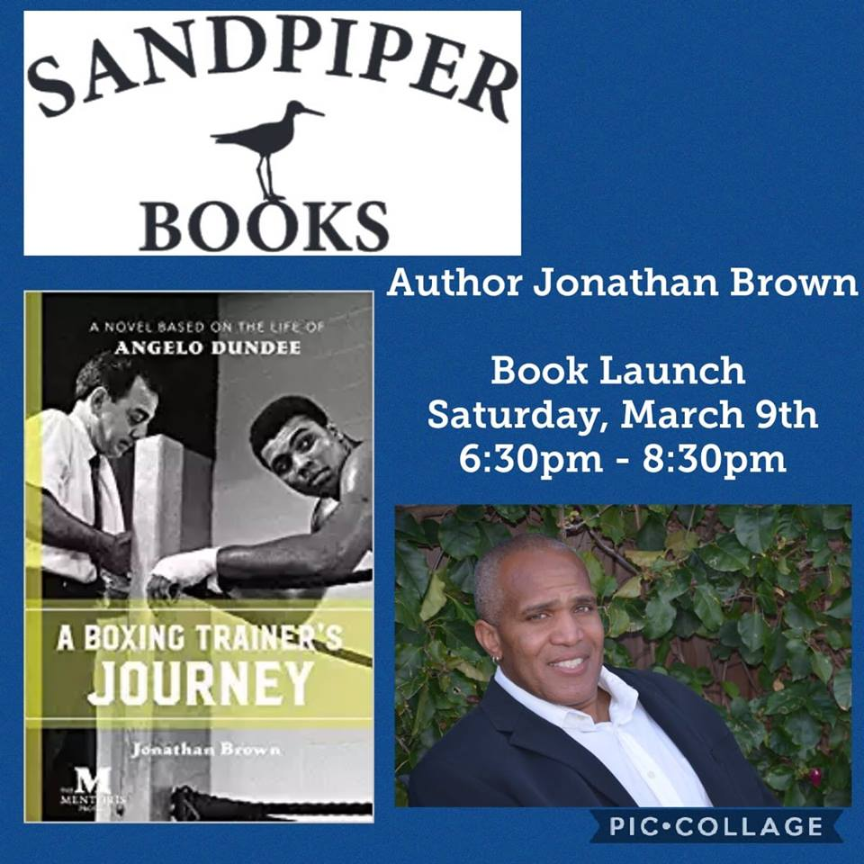JONATHAN BROWN TO LAUNCH HIS NEW BOOK AT SANDPIPER BOOKS